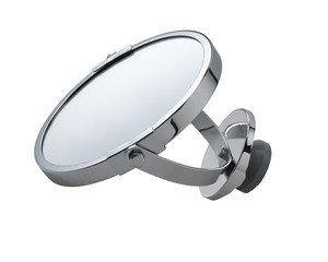 Miroir suspendu double face chrome